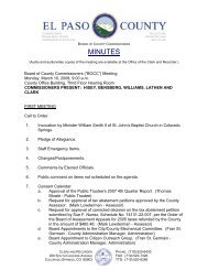 Monday, March 10, 2008 Minutes - El Paso County Government
