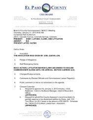 Thursday, January 17, 2013 Minutes - El Paso County Government