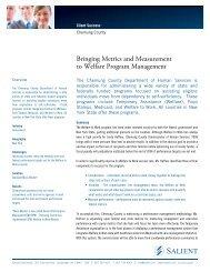 Bringing Metrics and Measurement to Welfare Program ... - Salient