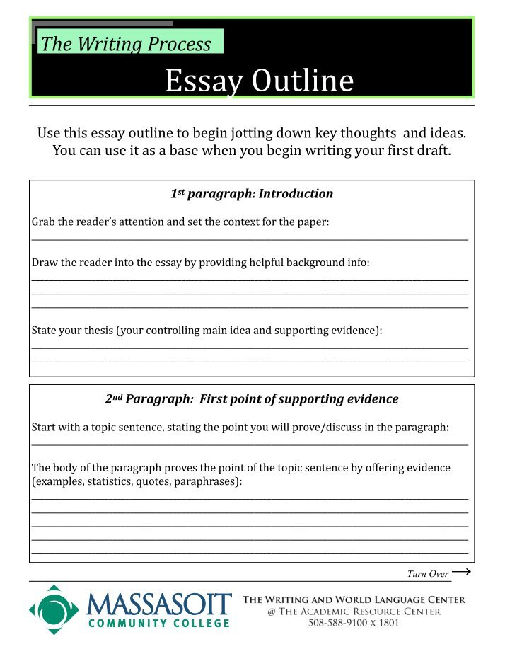 sample of an essay outline