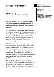 Presse-Information - TRUMPF Elektrowerkzeuge
