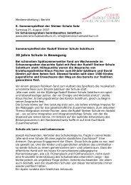 Sommerspielfest der Rudolf Steiner Schule Solothurn