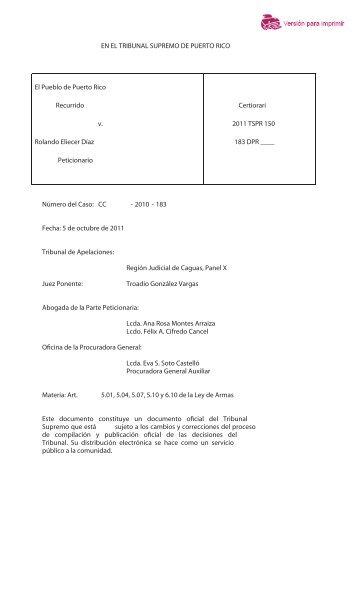 2011 TSPR 150 - Rama Judicial de Puerto Rico