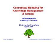 Conceptual Modeling for Knowledge Management - Department of ...