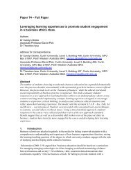Leveraging learning experiences to promote student engagement in ...