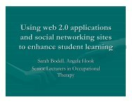 Using web 2.0 applications and social network sites to ... - ECE