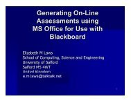 Generating online assessments using MS Office for use with ... - ECE