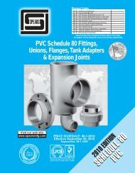 PVC Schedule 80 Fittings, Unions, Flanges, Tank Adapters - Spears ...