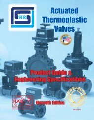 Actuated Thermoplastic Valves