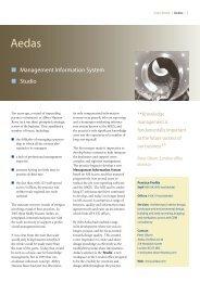 SK Case Study - Aedas - Knowledge Management