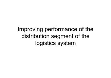 Improving performance of the Improving performance of the ... - CTL