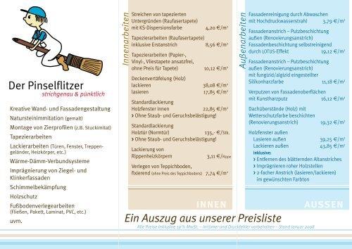innen aussen - Der Pinselflitzer, Malermeister Sebastian Lohmann