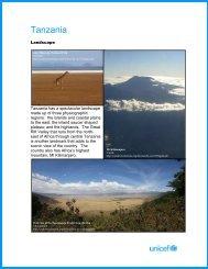 Tanzania Country Profile - Unicef