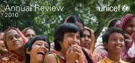 Annual Review 2010 - Unicef