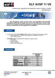 ELF AVSP 11 VS FR - ELF Compétition
