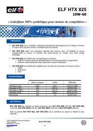 ELF HTX 825 FR