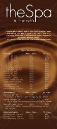 Spa Services - Harrah's Las Vegas