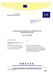Östlichen Partnerschaft - Öffentliches Register der Ratsdokumente