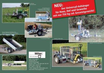 Der Universal-Anhänger für Haus, Hof und ... - Miller Fahrzeugbau