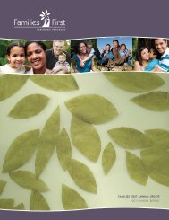 FAMILIES FIRST ANNUAL UPDATE 2007 annual RePORt