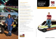 Bachelor of Paramedic Practice - Ambulance Service of NSW