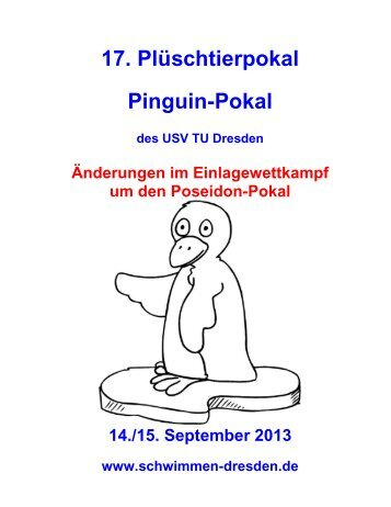 17. Plüschtierpokal Pinguin-Pokal - USV TU Dresden e.V.