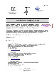 Annual report to IGCP for 2012 - Coastal-Change.Org