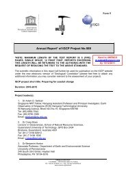 Annual report to IGCP for 2011 - Coastal-Change.Org