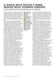 Il ruolo delle piccole e medie banche nello scenario ... - UBI Banca