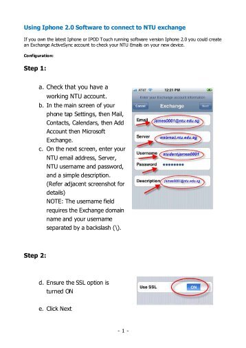 how to connect work email to iphone