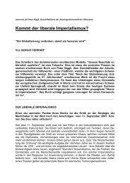 Kommt der liberale Imperialismus? 2004 - Unité