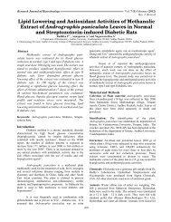 Lipid Lowering and Antioxidant Activities of Methanolic Extract of ...