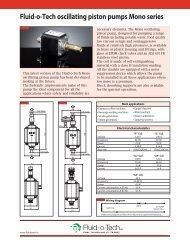 Fluid-o-Tech oscillating piston pumps Mono series