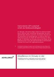 Advellence im Einsatz in der Telekommunikationsindustrie
