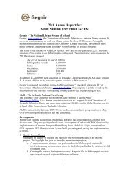 2010 Annual Report for: Aleph National User group (ANUG) - IGeLU
