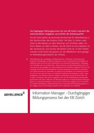 Information Manager - Durchgängiger Bildungsprozess ... - Advellence