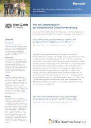 Von der Zettelwirtschaft zur elektronischen ... - Microsoft