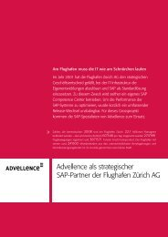 Advellence als strategischer SAP-Partner der Flughafen Zürich AG