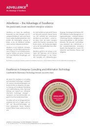 Advellence – the Advantage of Excellence