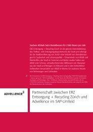 Partnerschaft zwischen ERZ Entsorgung + Recycling ... - Advellence