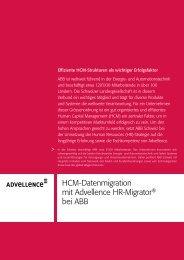 HCM-Datenmigration mit Advellence HR-Migrator® bei ABB