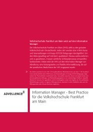 Information Manager - Best Practice für die ... - Advellence