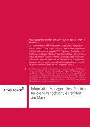 Information Manager - Best Practice für die ... - Advellence