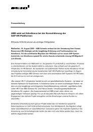 Pressemitteilung ABB setzt Advellence bei der Konsolidierung SAP ...