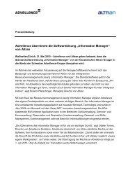 Pressemitteilung Advellence übernimmt Information Manager von ...