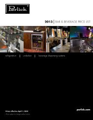 2013 BAR & BEVERAGE PRICE LIST - Greenfield World Trade