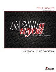 2011 Price List Designed Smart. Built Solid. - Greenfield World Trade