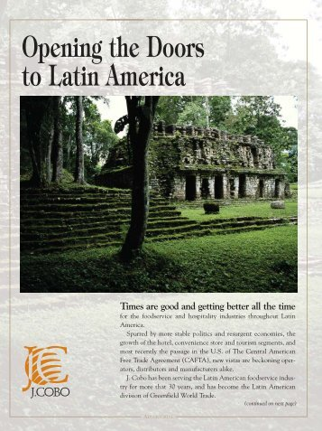 Opening the Doors to Latin America - Greenfield World Trade