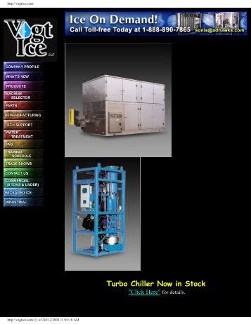 Turbo Chiller Now in Stock - Greenfield World Trade