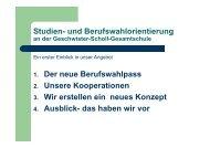 Studien- und Berufswahlorientierung 1. Der neue Berufswahlpass 2 ...